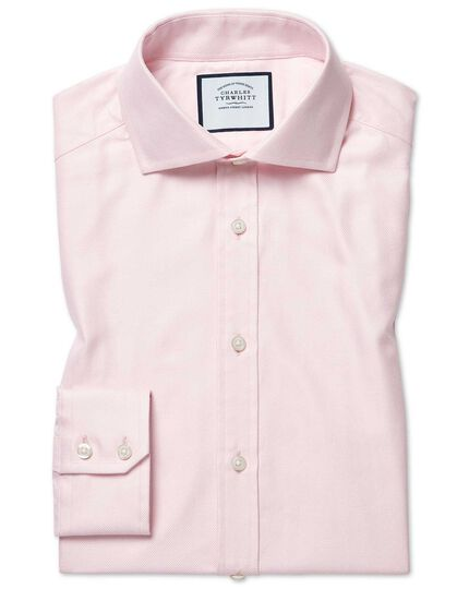 Slim fit cutaway cotton stretch with TENCEL™ pink shirt