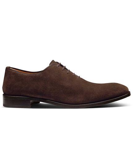 Brown suede wholecut shoes