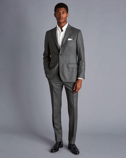 Italian Luxury Stretch Flannel Suit - Grey