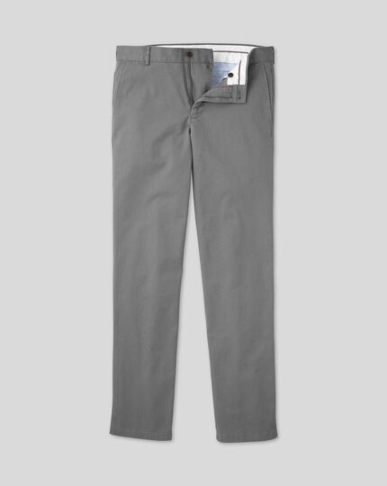Soft Washed Chinos  - Grey