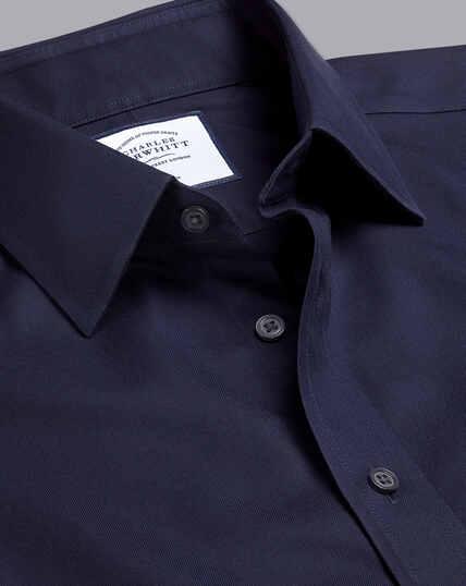 Non-Iron Twill Shirt - Navy