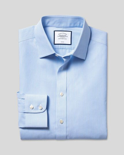 Non-Iron Bengal Stripe Shirt - Sky
