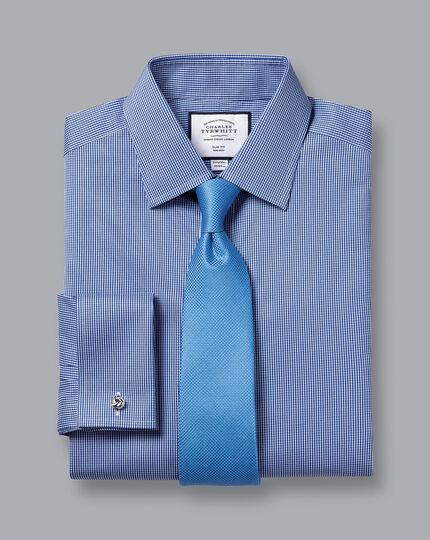 Non-Iron Puppytooth Shirt - Royal Blue