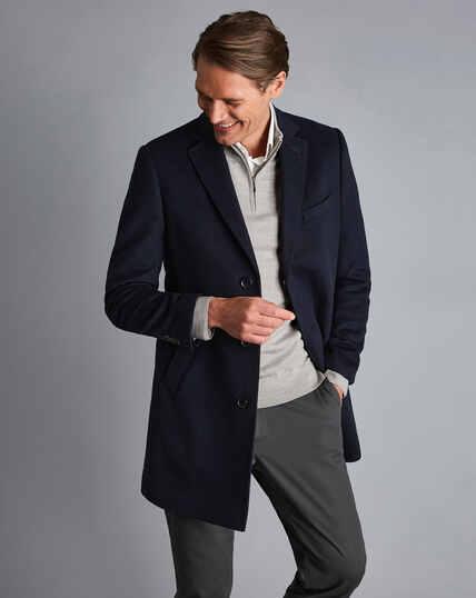Mantel aus Wolle - Marineblau