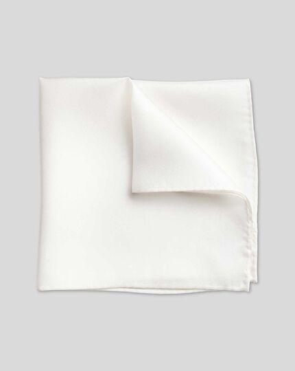 Gala-Einstecktuch aus Seide - Weiß
