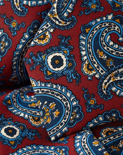 Wool Paisley Italian Luxury Tie - Red