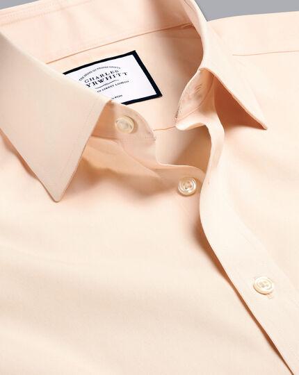 Non-Iron Poplin Shirt - Peach