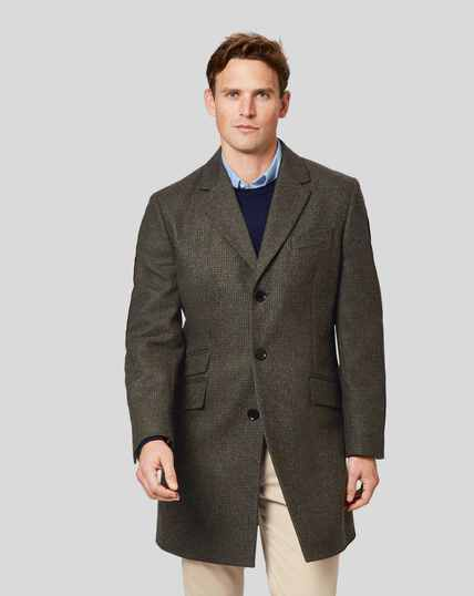Puppytooth British Wool Cotton Epsom Coat - Green