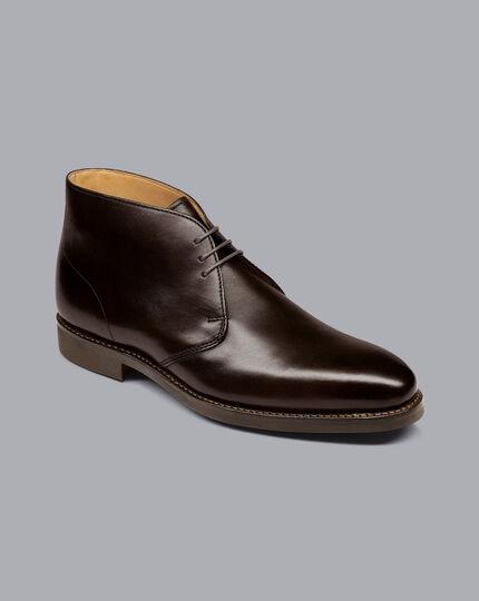 Goodyear Welted Chukka Boots - Dark Chocolate