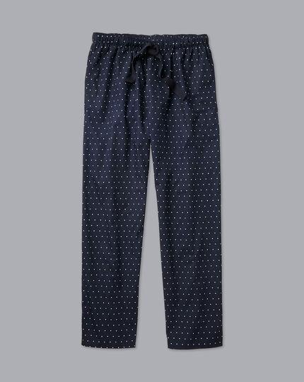Printed Dot Pyjama Bottoms - Navy