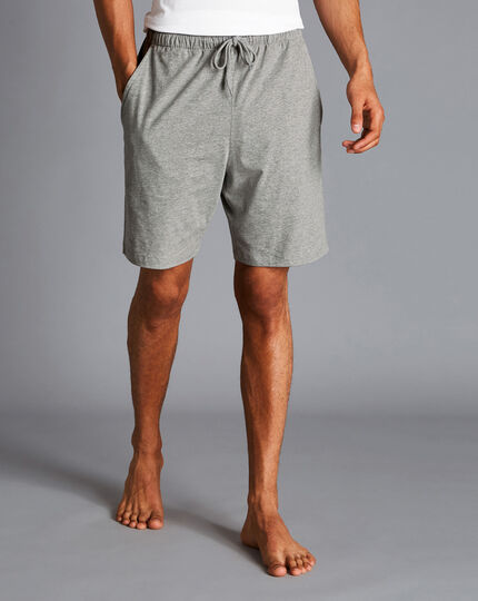 Cotton Jersey Shorts - Silver Grey