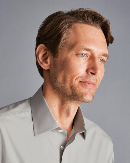 Non-Iron Poplin Shirt - Grey