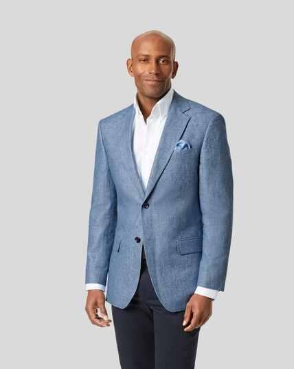 Cotton Linen Jacket - Light Blue