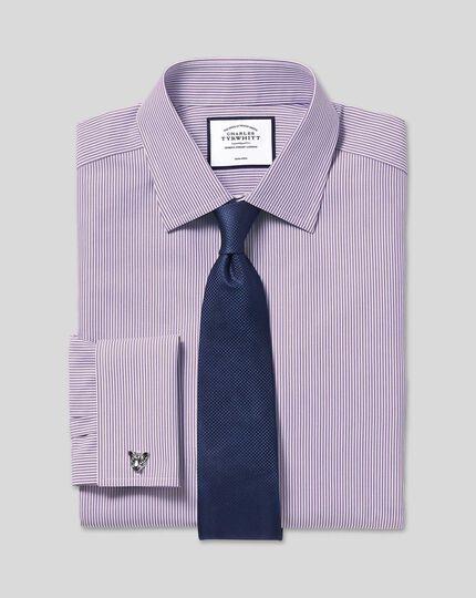Non-Iron Bengal Stripe Shirt - Purple