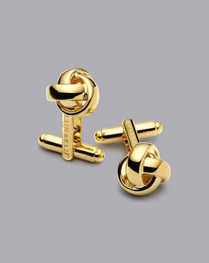 Knot Cufflinks - Gold