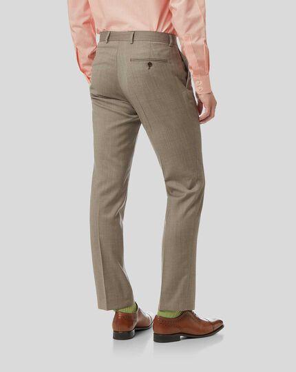 Herringbone Suit Pants- Fawn