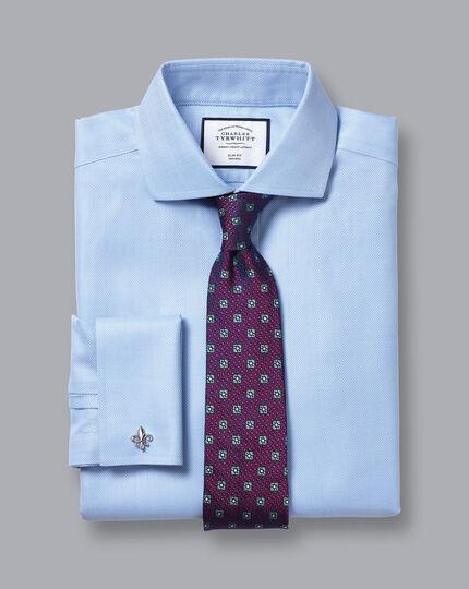 Cutaway Collar Non-Iron Herringbone Shirt - Sky Blue