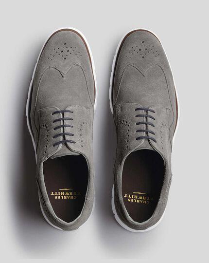 Suede Hybrid Sneakers  - Grey