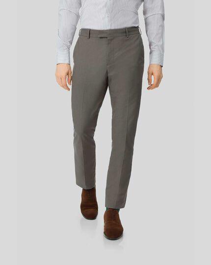 Non-Iron Stretch Pants - Brown