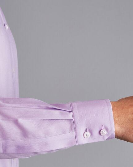 Spread Collar Non-Iron Regent Weave Shirt - Lilac Purple