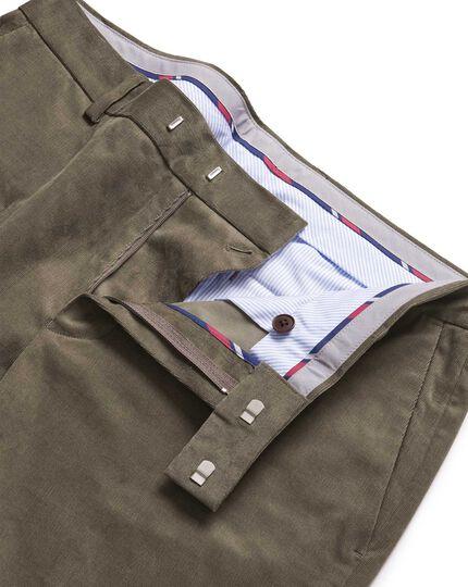 Mocha needle cord trousers
