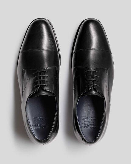 Goodyear-rahmengenähte Performance-Derby-Schuhe mit Zehenkappe - Schwarz