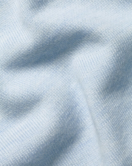 Merino V-Neck Jumper - Light Blue
