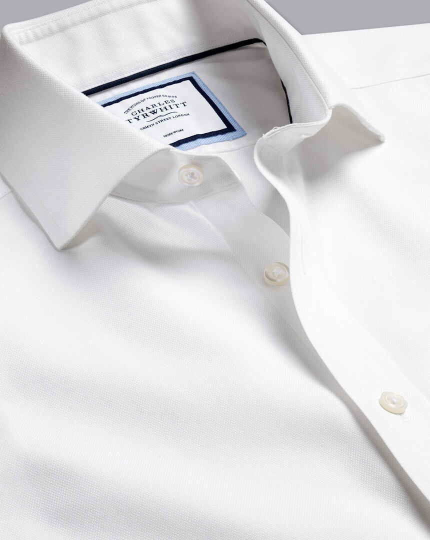 Cutaway Collar Non-Iron Regent Weave Shirt - White