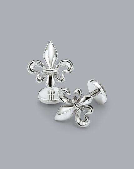 Fleur-de-Lys Cufflinks - Silver