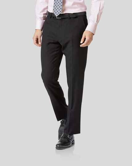 Twill Business Suit Pants - Charcoal