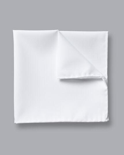 Cotton Pocket Square - White