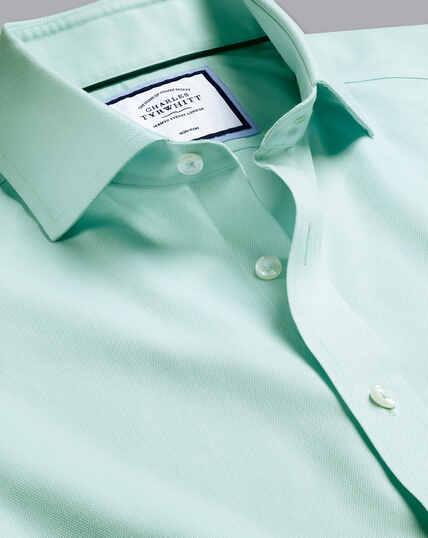 Cutaway Collar Non-Iron Regent Weave Shirt - Green