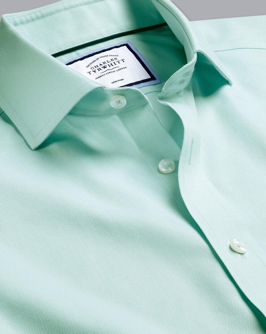 Bügelfreies Regency-Hemd mit Haifischkragen - Grün