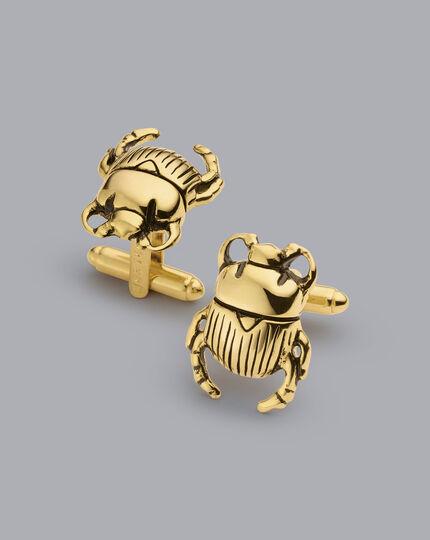 Beetle Cufflinks - Gold