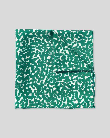 Floral Print Pocket Square - Green