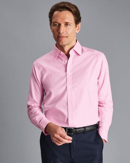 Bügelfreies Twill-Hemd - Rosa