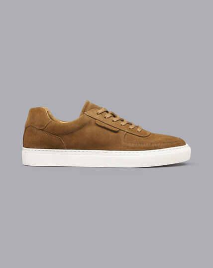 Suede Sneakers - Tobacco Brown