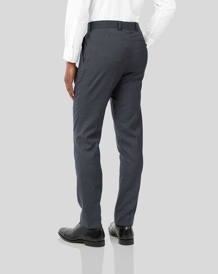 Business Suit Textured Trousers - Steel Grey