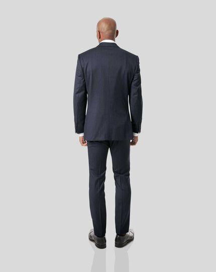 Italian Stripe Suit - Dark Blue