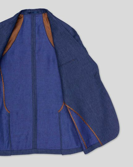 Linen Cotton Jacket - Blue