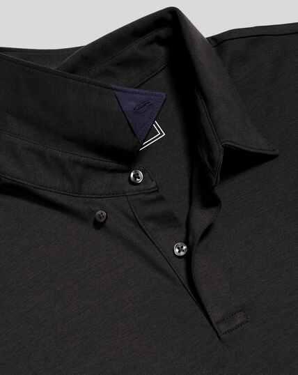 Smart Jersey Polo - Black