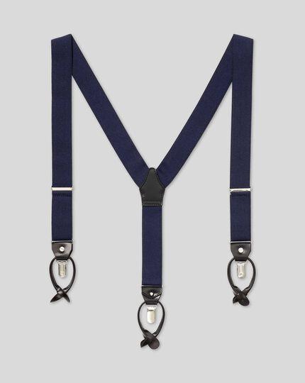 Combination Suspenders - Navy