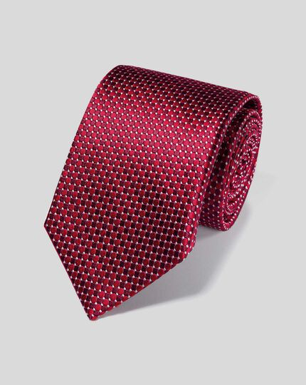 Stain Resistant Silk Tie - Red