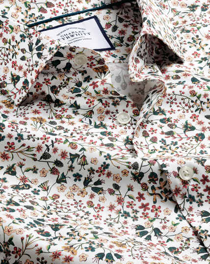 Hemd mit Semi-Haifischkragen Made with Liberty Fabric - Bunt