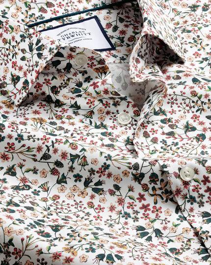 Made with Liberty Fabric Semi-Spread Collar Shirt - Multi