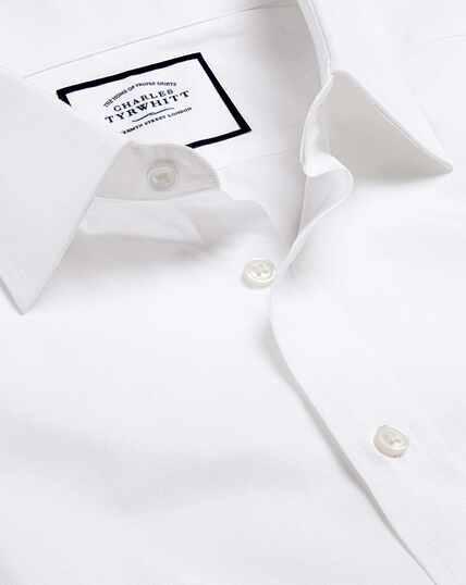 Egyptian Cotton Poplin Shirt - White