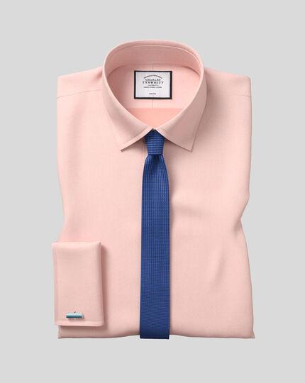Schmale Krawatte aus Seide mit Nadelpunkten - Königsblau