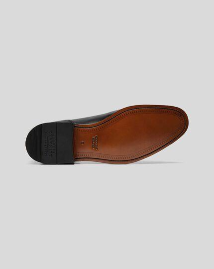 Goodyear-rahmengenähte Budapester Oxford-Schuhe - Schwarz