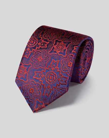 Silk Tile English Luxury Tie - Orange