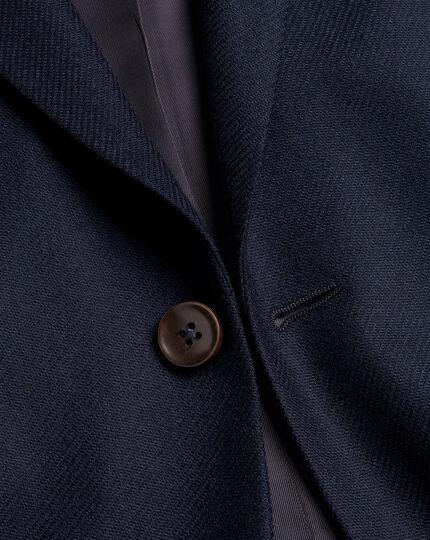 Italienisches Luxusanzug-Sakko aus Twill - Marineblau